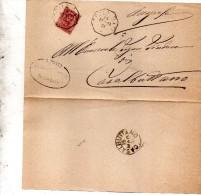 1901   LETTERA CON ANNULLO  OTTAGONALE  CELLA DATI  CREMONA