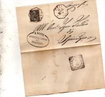 1896   LETTERA CON ANNULLO  OTTAGONALE  CELLA DATI  CREMONA + CAVA TIGOZZI