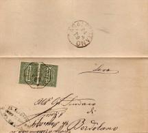1889   LETTERA CON ANNULLO  OTTAGONALE   Corte De� Cortesi Con Cignone CREMONA