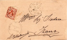 1901   LETTERA CON ANNULLO  OTTAGONALE  OMBRIANO   CREMONA