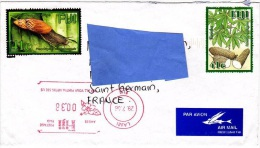 Z] 2 Scans - Enveloppe Cover Fidji Fiji Affranchissement Mécanique Meter Stamp Escargot Snail Manioc - Fiji (1970-...)