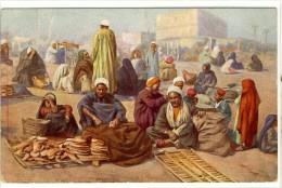 Carte Postale Ancienne Egypte -  Marchands De Pains - Métiers, Commerce, Boulangerie - Otros