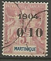MARTINIQUE N� 56 FAUX DE FOURNIER OBL TTB