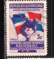 Dominican Republic 1937 National Olympic Games 3c Used - Repubblica Domenicana