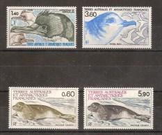 TAAF - FSAT - LOT DE 4 TIMBRES NEUF - OISEAU - PHOQUE - Französische Süd- Und Antarktisgebiete (TAAF)