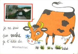 CPSM       Je Suis Pas Vache Je T´écris De Montestruc       P  2119 - Otros Municipios