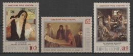 Russia - USSR (1988) Yv. 5543/45  /  Art - Paintings - Pintura - Tableaux - Kunst