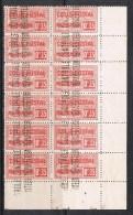 ALGERIE COLIS POSTAL N°12 N** En Bloc De 12, Variété Perforations Manquantes - Algérie (1924-1962)