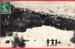 CPA 15  Le Ski Au LIORAN Descente En Groupe - Non Classés