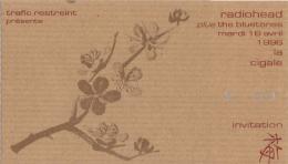 ticket billet place concert RADIOHEAD 1996 La Cigale PARIS