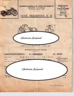 Document Du ?? SNVS   Motos HARLEY DAVIDSON 750wla - INDIAN 640B - Frankreich