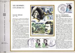 Feuillet Tirage Limité CEF 190 Soie Les Hommes Célèbres Berges De Chomedey - France