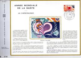 Feuillet Tirage Limité  CEF 192 Soie Année Mondiale De La Santé La Cardiologie Paris - France