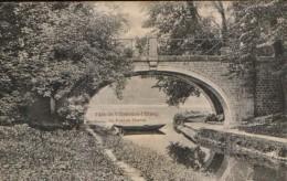 France - Carte Postale Inutilisee  - Parc De Villeneuve L'Etang - Le Pont De Pierres - 2/scans - Athis Mons