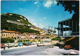 Grenoble: RENAULT 12 BREAK, CITROËN GS BREAK, 2CV & BACHE, PEUGEOT 504, RENAULT 4 & 5, SIMCA 1100 - Gare De Téléphérique - Voitures De Tourisme