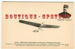 PRIX FIXE < AVIATEUR CAPITAINE BURGEAT Sur MONOPLAN ANTOINETTE - AEROPLANE - AVIATION - AVION - DOS SCANNE - Aviadores