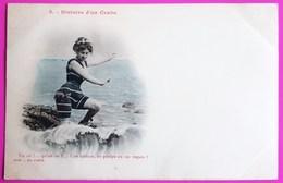 Cpa N° 5 Histoire D'un Crabe - Une Méduse, Un Poulpe Ou Un Requin? Carte Postale Bergeret ? Non Circulée - Bergeret