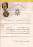 Medaille Mg 1408 (3 Scans) Herinneringsmedaille Van Den Oorlog 1940-1945 Met Attest - Medaille Commemorative - Belgique