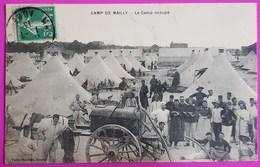 Cpa Camp De Mailly Le Camp Occupé 1913 Carte Postale Militaire 51 Marne Belle Animation - Weltkrieg 1914-18