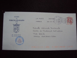 Sp�cial TTB : Enveloppe Tercis-les-Bains (40)   th�me eau ammonite    timbre ciappa