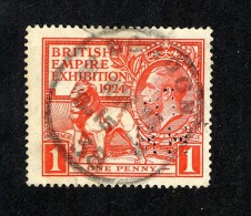 GB 1924 British Empire Exhibition With Perfin Stamp Damaged (C578) - Perforés