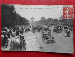 """CPA 75 PARIS """"AVENUE DU BOIS DE BOULOGNE A LA PORTE DAUPHINE""""  Ed (E.L.D) 1909 - Otros"""