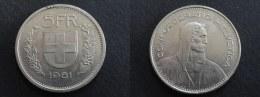 1981 - 5 FRANCS SUISSE SWITZERLAND - Svizzera
