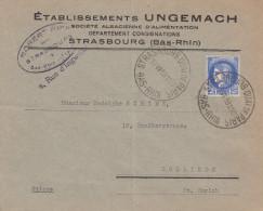 Env Affr Y&T 374 Obl STRASBOURG QUAI DE PARIS Du 17 VII 39 - Oblitération AUTOPLAN - Marcophilie (Lettres)