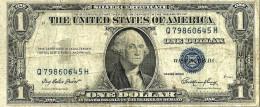 USA UNITED STATES $1 SILVER CERTIFICATE BLUE SEAL SERIES 1935 AVF P READ DESCRIPTION CAREFULLY !!! - Silver Certificates (1928-1957)