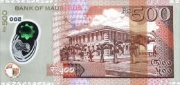 MAURITIUS P. 66a 500 R 2013 UNC - Mauricio