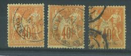 VEND BEAUX TIMBRES DE FRANCE N° 70 X 3  POUR ETUDES , NUANCES !!! - 1876-1878 Sage (Type I)