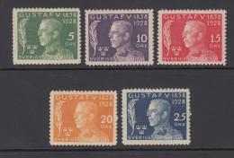 Sweden 1928 - Michel 208-212 Mint Never Hinged ** - Suède