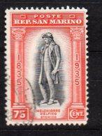 1935 San Marino - Morte Di Delfico N. 201 Timbrato Used - San Marino