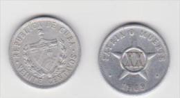 CUBA  20 CENTAVOS    ANNO 1969 - Cuba