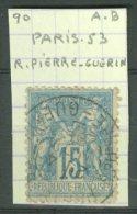 FRANCE - MARCOPHILIE: Paris, Rue Pierre Guerin Sur Sage, O - LIVRAISON GRATUITE A PARTIR DE 10 EUROS - Marcophilie (Timbres Détachés)