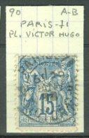 FRANCE - MARCOPHILIE: Paris, Pl. Victor Hugo Sur Sage, O - LIVRAISON GRATUITE A PARTIR DE 10 EUROS - Marcophilie (Timbres Détachés)