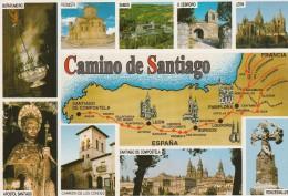 AK MAP, Landkarte, Umgebungskarte **Camino De Santiago** - Landkarten
