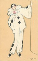 Ref D581- Illustrateurs - Illustrateur Chiostri Carlo - Pierrot - Theme Pierrots   - Carte Bon Etat   - - Chiostri, Carlo