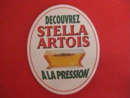 Sous-bock Bières Stella Artois A La Pression - Sous-bocks