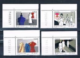 France 2013 - Réf. 4824-4825-4826-4827 - La Mode - France Singapour - Coins De Feuille Avec N° - Neufs** - France
