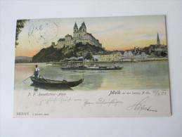 AK 1904 Österreich. Melk An Der Donau, N. Oe. P. P. Benedictiner - Abtei. Verlag A. Schaffer, Melk - Melk