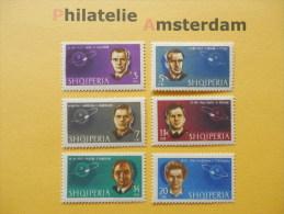 Albania 1963, GAGARIN, TITOV, NIKOLAEV, POPOVITCH, BYKOWSKY, TERESCHKOVA / SPACE RUIMTEVAART ESPACE: Mi 757-62, ** - Space