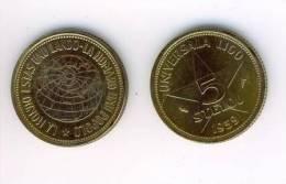 (EM) Esperanto Munt Coin Pièce 5 Stelo From 1959 - Munten