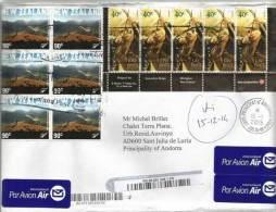 Belle Lettre Recommandée De Nouvelle-Zélande Adressée En Andorre, Avec Timbre à Date Arrivée