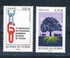 FRANCE - Conseil De L'Europe - Année 2010 - Réf. 146 - 147 - Service - Neuf** - Service