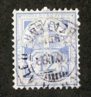 4183  Swiss 1882   Mi.#48 (o)  Scott #80 White Paper  Cat. 30.€ -Offers Welcome!- - Usati