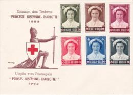 912 917 PC 14 Commémoratif Vierge Croix-Rouge Joséphine Charlotte Princesse  €25 - FDC