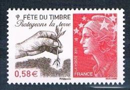 France 2011 - Réf. 4534 - Fête Du Timbre - Protégeons La Terre -  Neuf ** - France