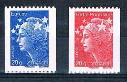 FRANCE - Marianne De Beaujard - Réf. 4572 - 4573 - Provenant De Roulettes - N° Noir Au Dos - Gommés - Neufs** - 2008-13 Marianne De Beaujard