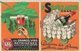 Algérie Oran F. SÉNÉCLAUZE SAINT-EUGÈNE Vins Crus Oranie Paul REBOUX 1937 Tarifs Vigne Pressoir Sulfatage Vendanges - Publicités